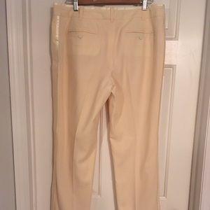 Club Monaco Pants - Cream wool crepe lined tuxedo pant